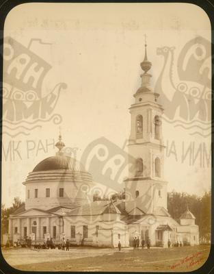 Q.164 - 11      г.Козельск. Калужская губерния. Собор – общий вид с СЗ. Снимок Гольдберга, май 1887  года.