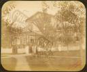 Q.164 - 3 Оптина Введенская Макарьева пустынь близ г.Козельска. Дом с кельей архимандрита – общий вид со стороны входа. Снимок Гольдберга, май 1887  года.