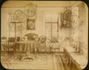 Q.164 - 4 Оптина Введенская Макарьева пустынь близ г. Козельска. Дом архимандрита – внутренний вид (приемная комната), келья. Снимок Гольдберга, май 1887  года.