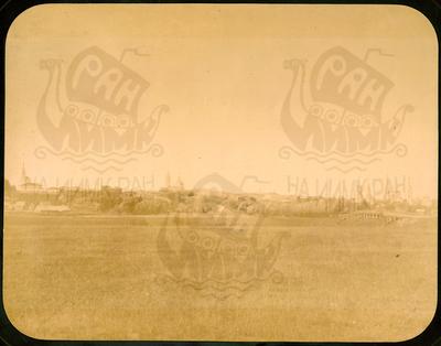 Q. 164 - 1 г.Козельск. Калужская губерния. Вид города с Белевской дороги. Снимок Гольдберга, май 1887  года.