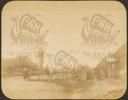 Q.164 - 17    д.Стенино близ г.Козельск. Калужская губерния. Вид улицы и домов в начале деревни - известное место для поднесения хлеба-соли.Снимок Гольдберга, май 1887  года.
