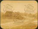 Q.164 - 18 Козельский уезд. Место границы уезда с мостом и бревенчатым домом - известное место для поднесения хлеба-соли. Снимок Гольдберга, май 1887  года.